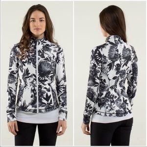 Lululemon Forme Floral Zip Black & White Jacket